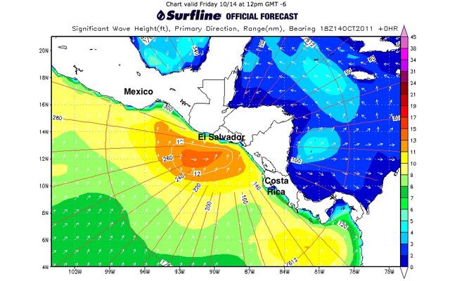 Forecast Update: Friday evening 10/14/2011